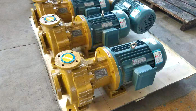 IMD horizontal FEP lined magnetic pump