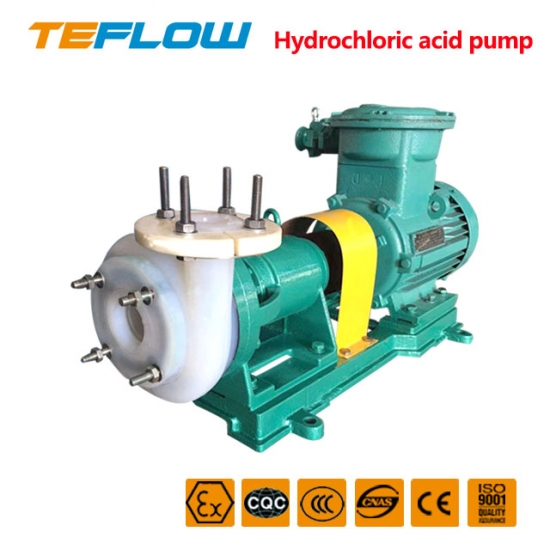 Fluoroplastic centrifugal pump